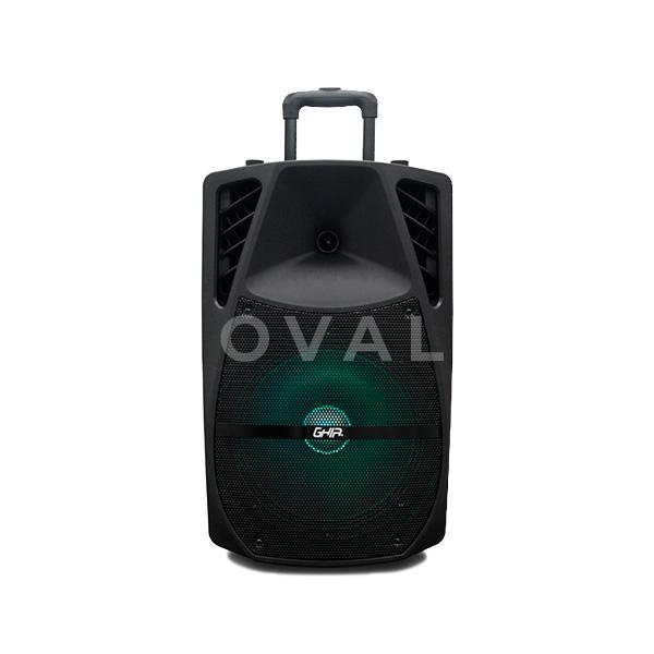 BAFLE AMPLIFICADO RECARGABLE BOCINA DE 12 PULG 9700W PMPO PORTATIL CON RUEDAS Y MANIJA RETRACTIL BT/TWS/USB/ MICRO SD/AUX/ LUCES LED